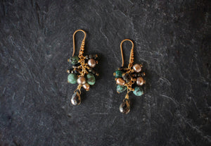 sea and stone jewelry Gemstone Cascade Earrings