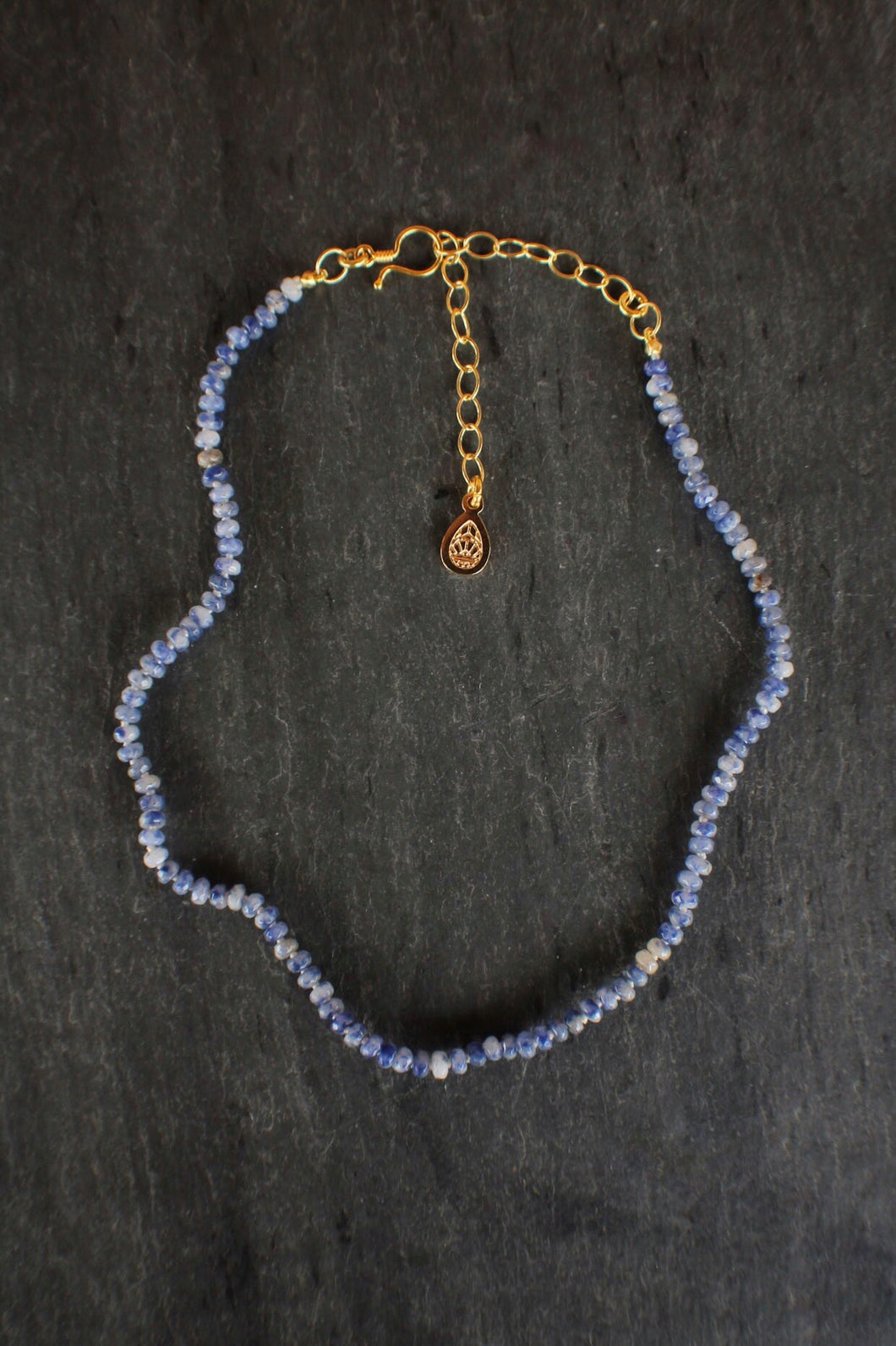 Dainty Sodalite Adjustable Necklace