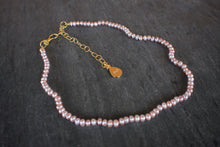 sea and stone jewelry Dainty Blush Pearl Adjustable Necklace