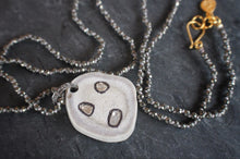 sea and stone jewelry sea and stone jewelry Pyrite & Pave Antler Slice Necklace