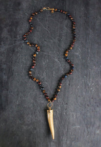 sea and stone jewelry Tigers Eye & Antler Necklace