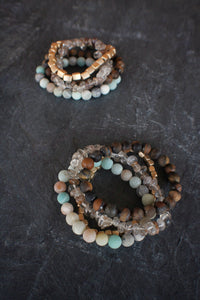 sea and stone jewelry Vista Gemstone Stretch Stack