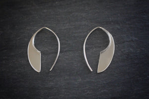 sea and stone jewelry Geometric Silver Drop Earrings