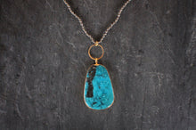 sea and stone jewelry Turquoise & Pyrite Necklace