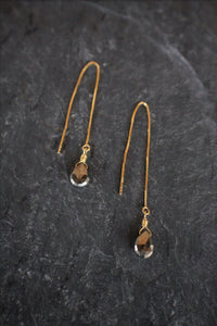 sea and stone jewelry Faceted Pyrite Threaders