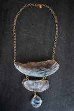 sea and stone jewelry Stacked Oyster Statement Necklace