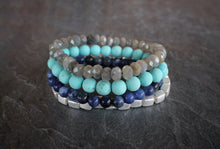 sea and stone jewelry Abaco Gemstone Stretch Stack