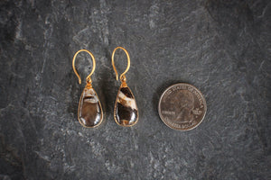 One-of-a-kind Peanut Wood Drop Earrings