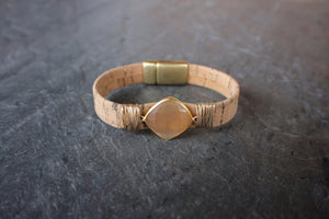 sea and stone jewelry Sparkle Cork Sand Bracelet