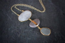 sea and stone jewelry Mauve River & Beach Pebble Necklace