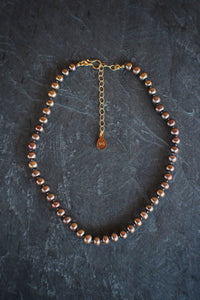 Adjustable Champagne Pearl Necklace