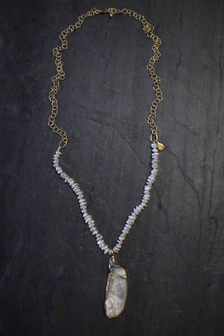 Wabi-Sabi Oyster Necklace