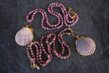 sea and stone jewelry Watermelon Tourmaline & Shell Necklace
