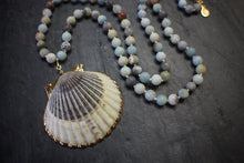sea and stone jewelry Convertible Long/Short Amazonite & Scallop Necklace