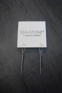 sea and stone jewelry Diamond Dagger Earrings