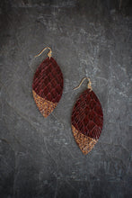 Gold Edge Leather Drop Earrings