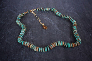sea and stone jewelry Heshi Turquoise Petite Adjustable Necklace