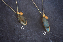 One-of-a-kind Marquise Labradorite Necklace