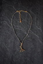 sea and stone jewelry Pyrite & Vermeil Antler Adjustable Necklace