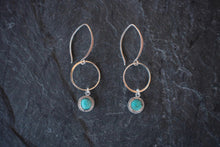 sea and stone jewelry Turquoise & Sterling Link Earrings