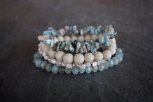 sea and stone jewelry Horizon Gemstone Stretch Stack