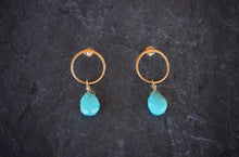 sea and stone jewelry Sleeping Beauty Post Earrings