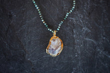 sea and stone jewelry Tiny Turquoise & Oyster Necklace