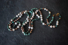 sea and stone jewelry Mixed Gemstone Wrap Necklace