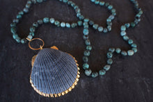 sea and stone jewelry Tumbled Turquoise & Seashell Necklace