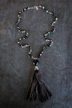 sea and stone jewelry Agate Fabric Tassel Necklace