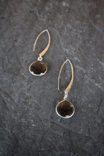 sea and stone jewelry Silver & Smoke Hammered Drops
