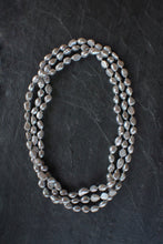 sea and stone jewelry X-Long Silver Pearl Wrap Necklace
