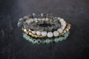 sea and stone jewelry Sandbar Gemstone Stretch Stack