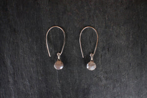Sterling Arch Earrings With Sapphire