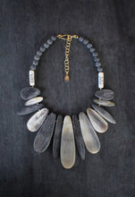 sea and stone jewelry Horn & Lava Bib Necklace