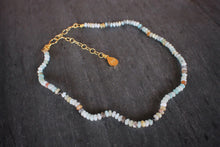 sea and stone jewelry Dainty Amazonite Adjustable Necklace