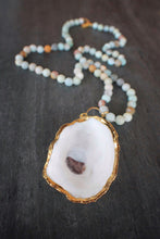 sea and stone jewelry Oyster & Matte Amazonite Necklace