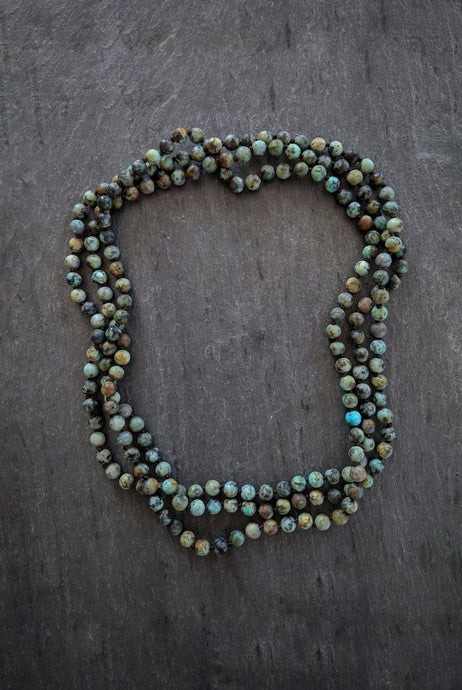 sea and stone jewelry X-Long African Turquoise Wrap Necklace