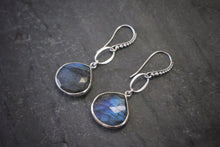 Sea and Stone granulated sterling labradorite earrings