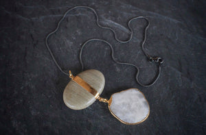 sea and stone jewelry Olive River & Beach Pebble Necklace