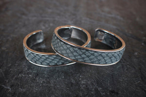 sea and stone jewelry Faux-Snakeskin Inlay Cuff Bracelet