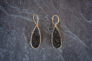 Tourmalinated Quartz one-of-a-kind Earrings