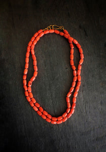 sea and stone jewelry Coral Beaded Necklace
