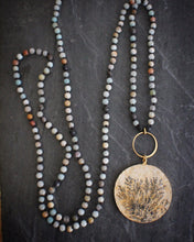 Sea and Stone Dendritic limestone amazonite necklace