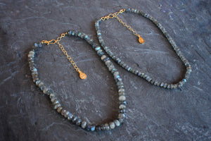 Faceted Labradorite Adjustable Necklace