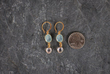 Chalcedony & Quartz Drop Earrings