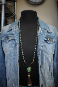 African Turquoise, Chrysoprase, & Horsehair
