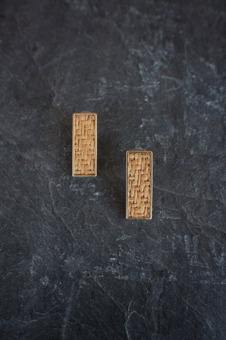 sea and stone jewelry Basket Weave Studs