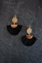 sea and stone jewelry Woven Fan Drop Earring