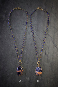 Sodalite & Lapis Fringe Necklace
